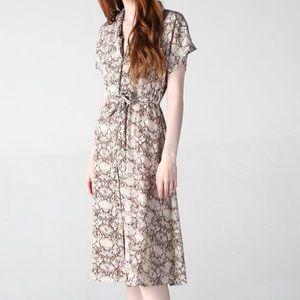 NWT Angie Snake Print Dress
